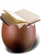 uovo di Pasqua con libro